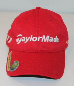 TAYLORMADE TOUR HEADWEAR R11 LOW RISE RED ADJUSTABLE CAP
