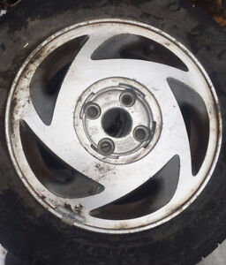 four tires with rims