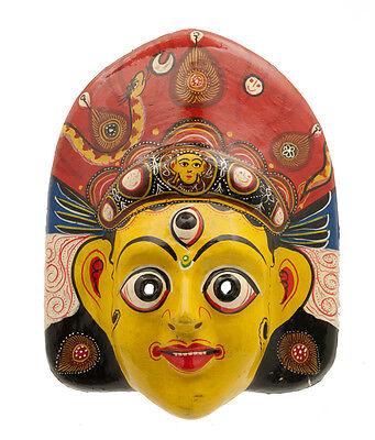 Mask Hat and Mitten Set Mahakali Kali Dance Indra Jatra Nepal Paper Mache 4050
