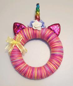 Unicorn wreaths wall/door art