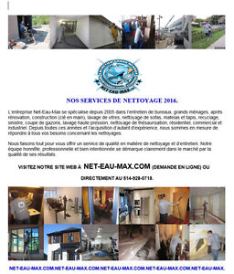 NETTOYAGE GRAND MÉNAGE, HEAVY DUTY CLEANING 2016 - 2017.