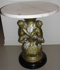 Marble Table on Statue Pedestal from Italy