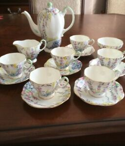 Foley Coffee & Tea set on 6 person made in England