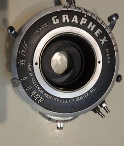 Graflex  Graphex 400 Large Format Shutter Wollensak Made In USA