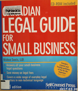 Canadian Legal Guide for Small Business, 2nd Edition