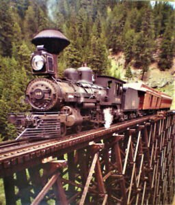 "Grande photo montée de train et rails vintage - Mesure 36"" x 42"""