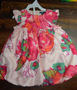 Baby GAP Girl's Satin Floral Dress with Bloomers (6-12M)