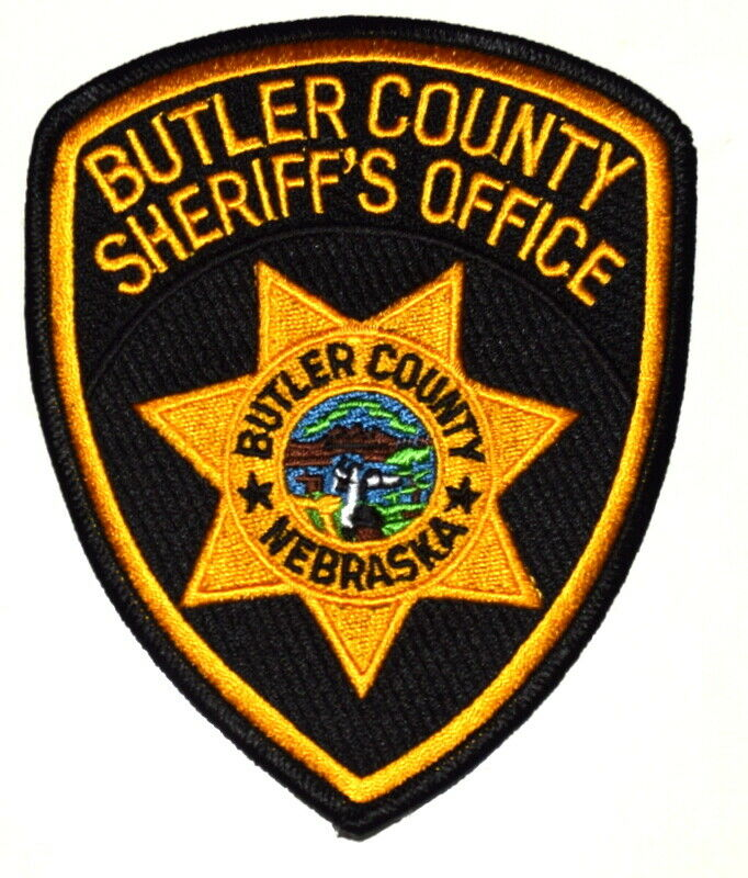 BUTLER COUNTY NEBRASKA NE Sheriff Police Patch STATE SEAL RIVER MOUNTAINS CABIN