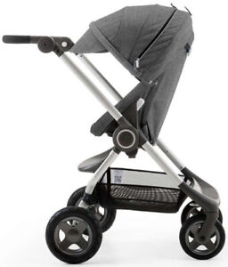 Stokke Scoot  Stroller in melange Grey.