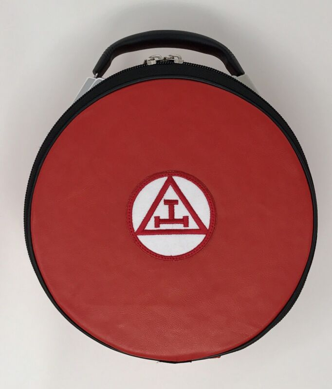 New Royal Arch Cap Case In Red with Emblem