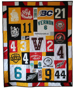 Hockey Jersey Quilt - Memory Quilts by Marnie