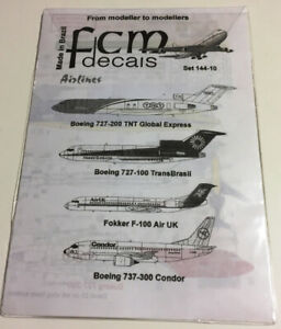 FCM Decals 1/144 Boeing 727 / 737 / Fokker F-100 decal set