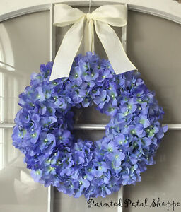 Periwinkle Hydrangea Wreath/Spring Wreath/Summer Wreath/Wedding