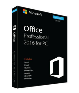 2016 MS Office Pro - Instant Delivery, Lifetime activation 1 PC