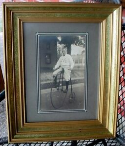 Antique rare 1880s High Wheel Bicycle Penny Farthing Photograph London Ontario image 1