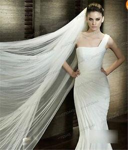 New White Cathedral Veil/Nouvelle voile de mariée en blanc