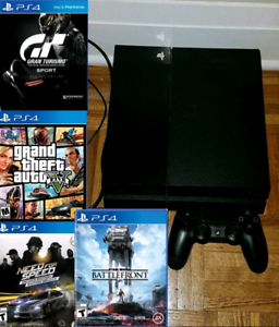 PS4 500gb Console Bundle with games