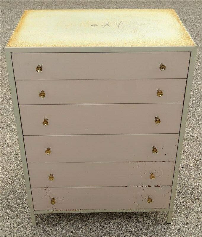 Simmons Art Deco Steel Chest of Drawers * Norman Bel Geddes
