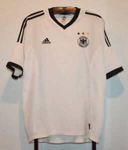 ADIDAS 2002-04 GERMANY HOME FOOTBALL SHIRT WHITE SOCCER JERSEY