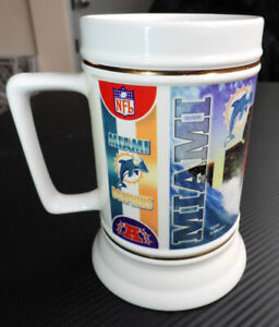 1998 MIAMI DOLPHINS BEER STEIN - OFFICIAL LICENSED NFL PRODUCT