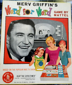 Merv Griffin's Word for Word Board Game by Mattel, 1963