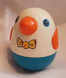 Vintage Playskool Roly Poly Weeble Wobble Bird Toy with Chime