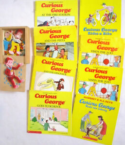 CURIOUS GEORGE - Books, Puzzle Box and Hat Activity Ages 3 &