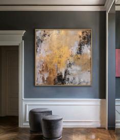 Framed Canvas Abstract Art