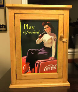 Coca Cola Wood Wall Cabinet