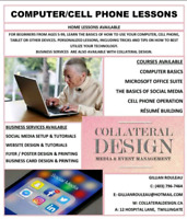 Computer/Cell phone lessons and Business Services