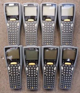 Lot of 8 Intermec 2410 barcode scanners - FOR PARTS ONLY
