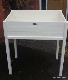 Esschert's Garden Wooden Cold Frame Potting Table White slatted RRP £135.00