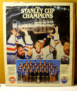 Edmonton Oilers Stanley Cup poster with Gretzky