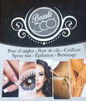 POSE D'ONGLES - SPRAY TAN - EPILATION - EXTENSION DE CILS