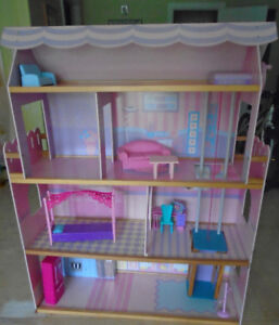 Wooden Barbie Dollhouse
