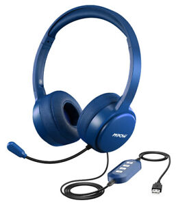 Mpow Wired USB & 3.5mm Jack Headphones with Noise Cancelling Mic