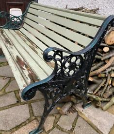 Vintage metal garden bench!