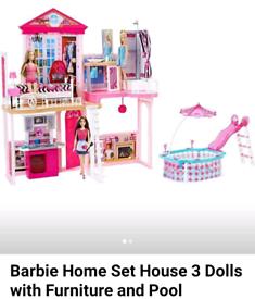 Barbie Homeset Dolls House and playset