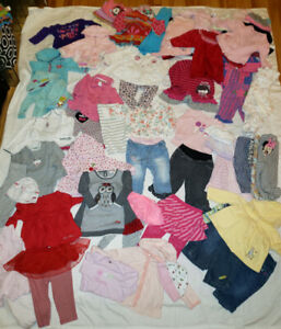 Big lot 80 pieces, vetements 6-12 mois, clothes, clothing, baby