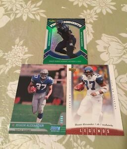 3 2007 Topps Finest Moments Shawn Alexander Cards - 2 RC