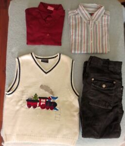 **Boy's Holiday outfit Size 5-6 and black shoes size 13 1/2Incl