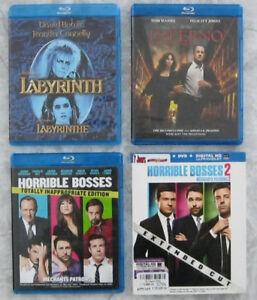 Blu-ray Horrible Bosses 1 - 2 - Inferno - Labyrinthe David Bowie