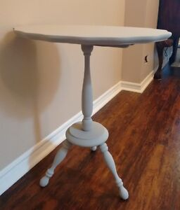 Grey Chalk Painted Side Table