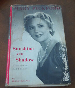 Book: Mary Pickford, Autobiography, Sunshine and Shadow, 1955 Kitchener / Waterloo Kitchener Area image 1