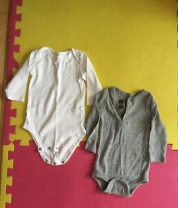 Boys 3-6 month long sleeve onesies.