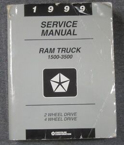 USED 1999 Dodge RAM TruckService Manual 1500-3500 gas and Diesel