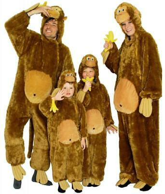 Affe Affen Monkey Kostüm Overall Plüsch Tier Schimpansen - Plüsch Affe Kostüme