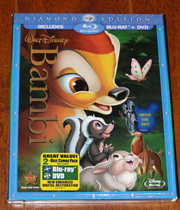 Disney's Bambi Blu ray and DVD $30
