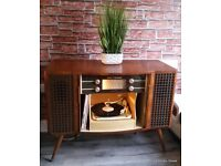 Professionally Restored & Serviced Mid Century Modern 1950s Vintage Decca SRG Radiogram Stereogram
