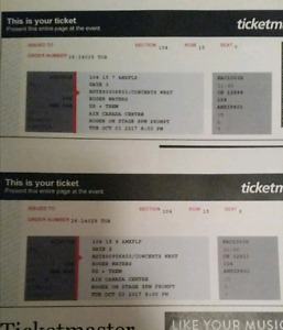 Roger Waters Us & Them Toronto tickets for Oct 3rd 2017